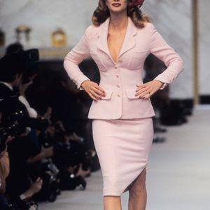 Rare Chanel Vintage Spring 1993 Pink 93P Jacket